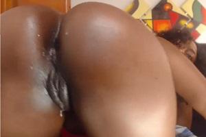 Hot Latina Girl Licking Her Lips and Masturbates